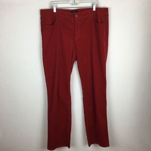 NWT Talbots Red Corduroy Pants size 18WP